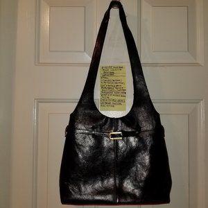 4055 Preowned Francesco Biasia Black Leather Purse